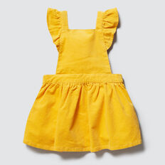 Frill Pinafore Dress  SAFFRON  hi-res