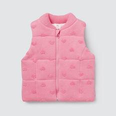 Heart Knit Vest  PINK BLUSH  hi-res