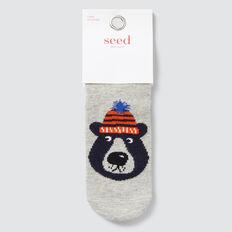 Bear Socks  GREY MARLE  hi-res