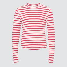 Striped Tee  CHERI RED  hi-res