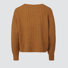 Crop Knit  TABACCO  hi-res