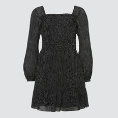 Chiffon Dress  BLACK  hi-res