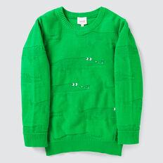 Jacquard Crew Knit  RETRO GREEN  hi-res