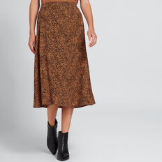 Cross Over Ocelot Skirt  ANIMAL PRINT  hi-res