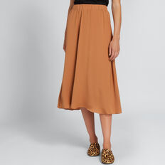 Flowing Midi Skirt  VINTAGE BRONZE  hi-res