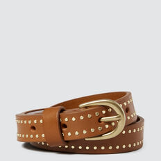 Studded Belt  TAN  hi-res