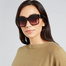 Danielle Square Sunglasses  TORT/ BLACK  hi-res