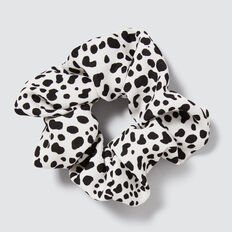 Animal Scrunchie  BLACK/WHITE  hi-res