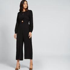 Twist Front Jumpsuit  BLACK  hi-res
