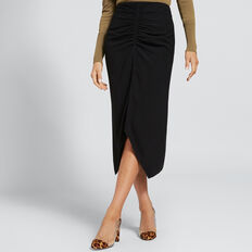 Gathered Centre Skirt  BLACK  hi-res