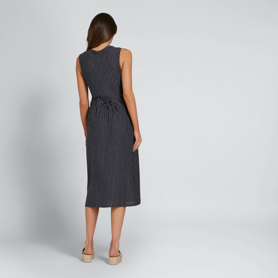 Stripe Knot Front Dress  DEEP NAVY STRIPE  hi-res