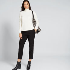 Textured High Neck Top  FRENCH VANILLA  hi-res