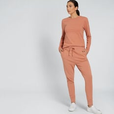 Long Sleeve Slim Basic Tee  TERRACOTTA  hi-res