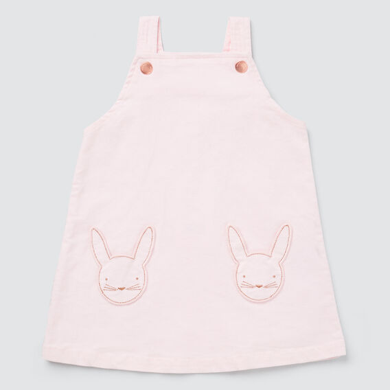 Bunny Pocket Pinafore  ICE PINK  hi-res