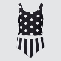 Reverse Bikini  BLACK STRIPE/SPOT  hi-res