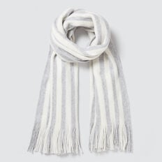 Stripe Fringe Scarf  CLOUD  hi-res