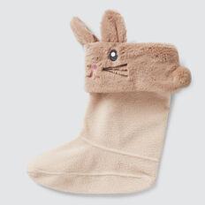 Bunny Gumboot Socks  BISCUIT  hi-res