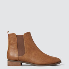 Gusset Boot  TAN  hi-res