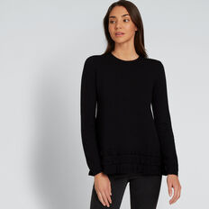 Frilly Sweater  BLACK  hi-res