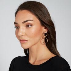 Linked Circle Earrings  GOLD  hi-res