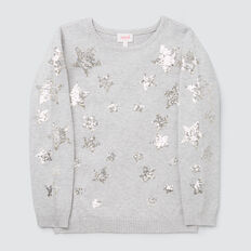 Sequin Star Sweater  CLOUD  hi-res