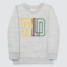 Wild Felt Sweat  GREY SPECKLE MARLE  hi-res