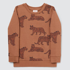 Tiger Yardage Sweater  CLAY  hi-res