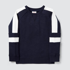 Spliced Sweater  MIDNIGHT BLUE  hi-res