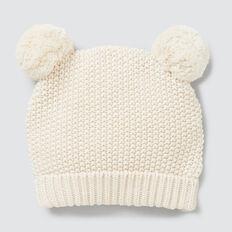 Knit Pom Pom Beanie  RICH CREAM  hi-res