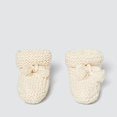Knit Booties  RICH CREAM  hi-res