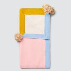 Pom Pom Knit Blanket  BUBBLEGUM  hi-res