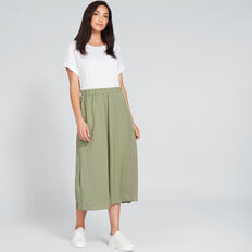 Flowing Midi Skirt  WASHED OLIVE  hi-res