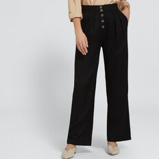 High Waist Soft Pant  BLACK  hi-res