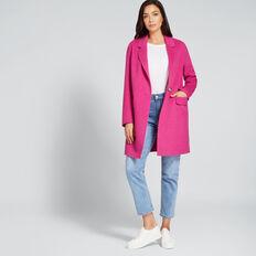 Streamline Coat  BOLD FUCHSIA  hi-res