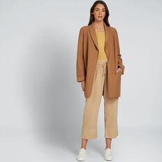Soft Drape Coat  GINGERBREAD  hi-res