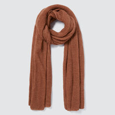 Open Weave Scarf  BURNT TOFFEE  hi-res