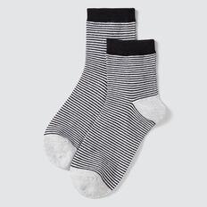 1/4 crew socks  BLACK/GREY STRIPE  hi-res
