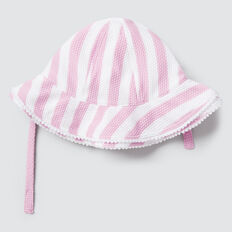 Stripe Swim Hat  FAIRY FLOSS  hi-res