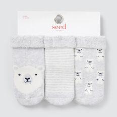 Terry Bear Socks  GREY  hi-res