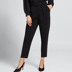 Cropped Belted Pant  BLACK  hi-res