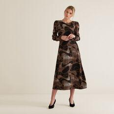 V Back Dress  CHAIN PRINT  hi-res