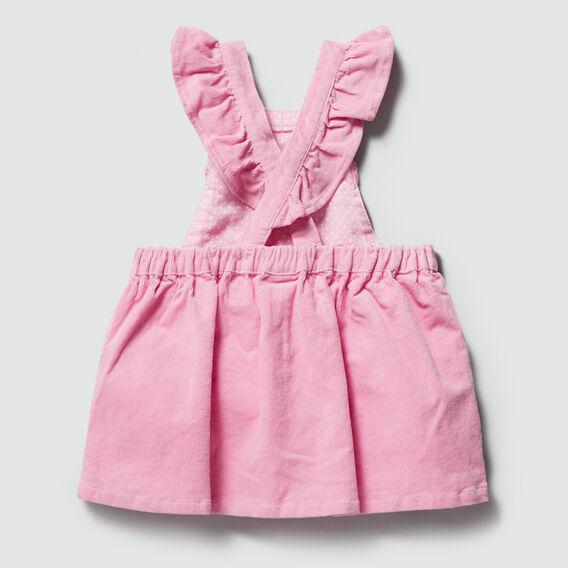 Frill Pinafore Dress  BUBBLEGUM  hi-res