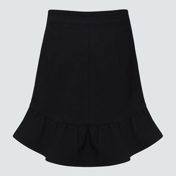 Frill Denim Skirt  BLACK  hi-res