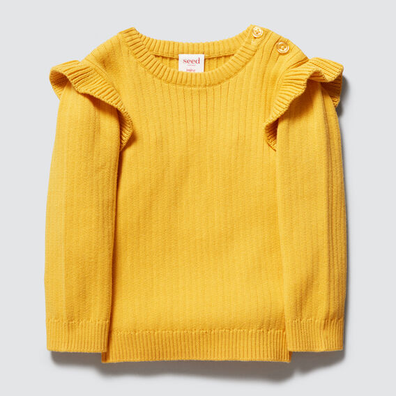 Rib Sweater  SAFFRON  hi-res