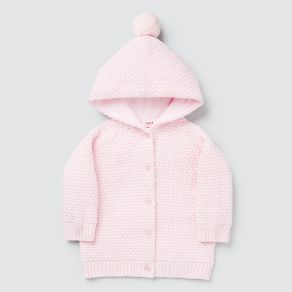 Textured Cardigan  ICE PINK  hi-res