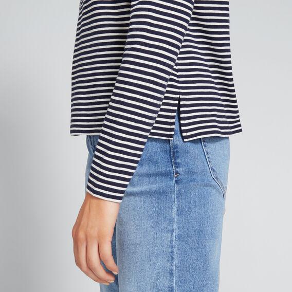 Stripey Long SLeeve Top  NAUTICAL BLUE STRIPE  hi-res