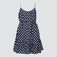 Spot Flounce Dress  MIDNIGHT  hi-res