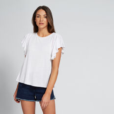 Shoulder Trim Top  WHISPER WHITE  hi-res