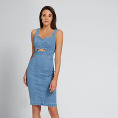 Peek-A-Boo Denim Dress  CLASSIC DENIM  hi-res