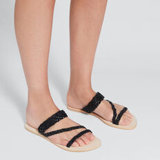 Lily Braided Slide  BLACK  hi-res
